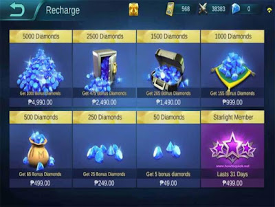 Cara Menggunakan Diamond Mobile Legends
