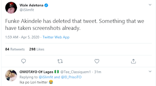 Funke Akindele reveals why they held a houseparty, despite lockdown, deletes tweets after being dragged (see screenshots)