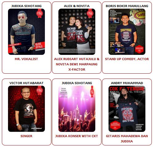 Artis Mendukung Penjualan Kaos Batak Online