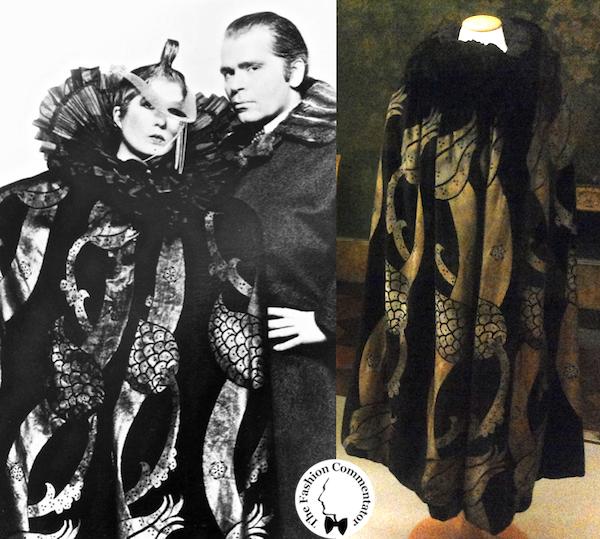Donne protagoniste del Novecento - Karl Lagerfeld and Anna Piaggi wearing Maria Monaci Gallenga cape (1920) - Galleria del Costume Firenze