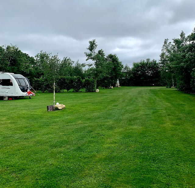 campsite with caravan, Twigworth, Gloucester