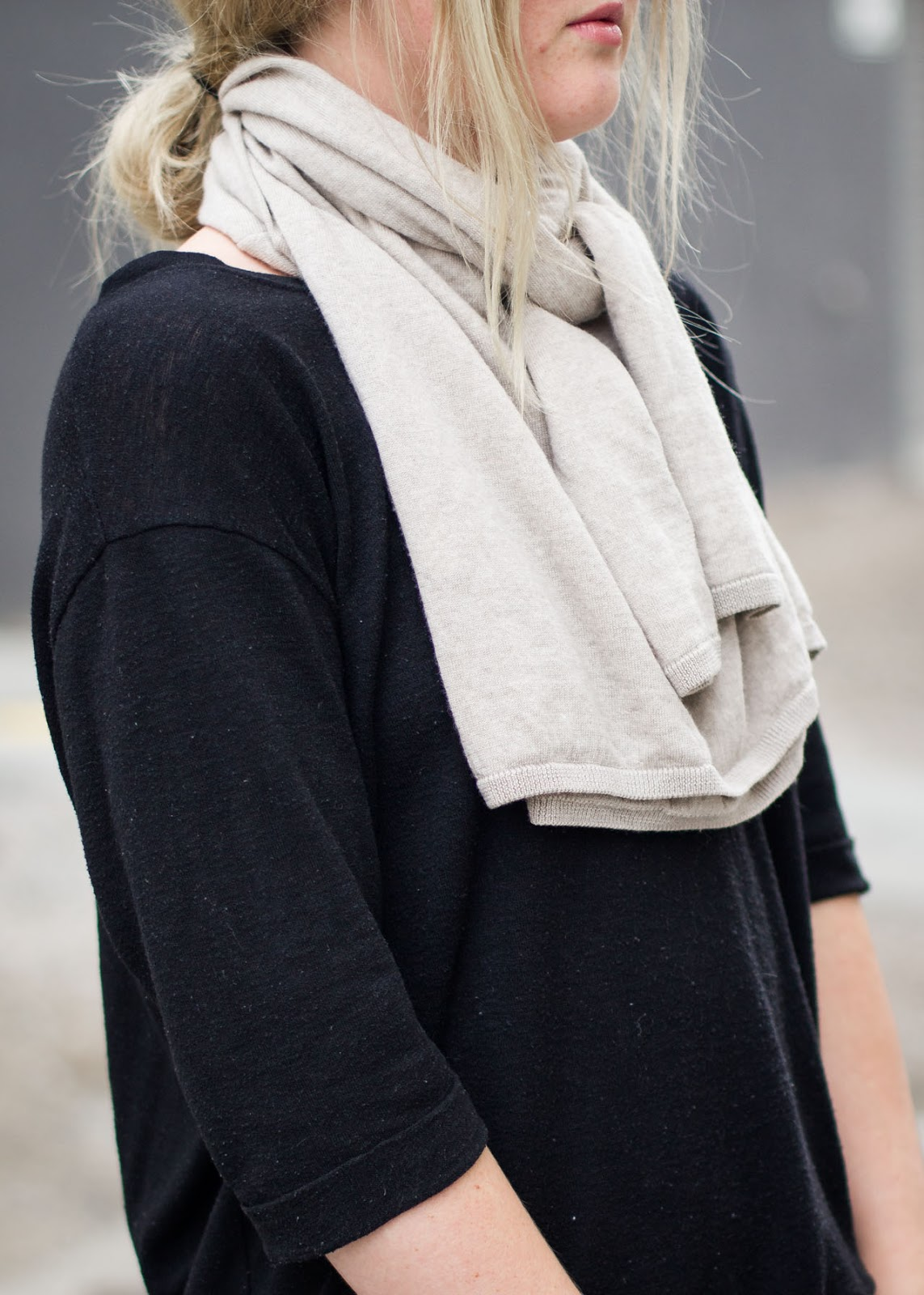 How to style a sweater as a scarf - Canadian Fashion / Style Blogger - Anine Bing