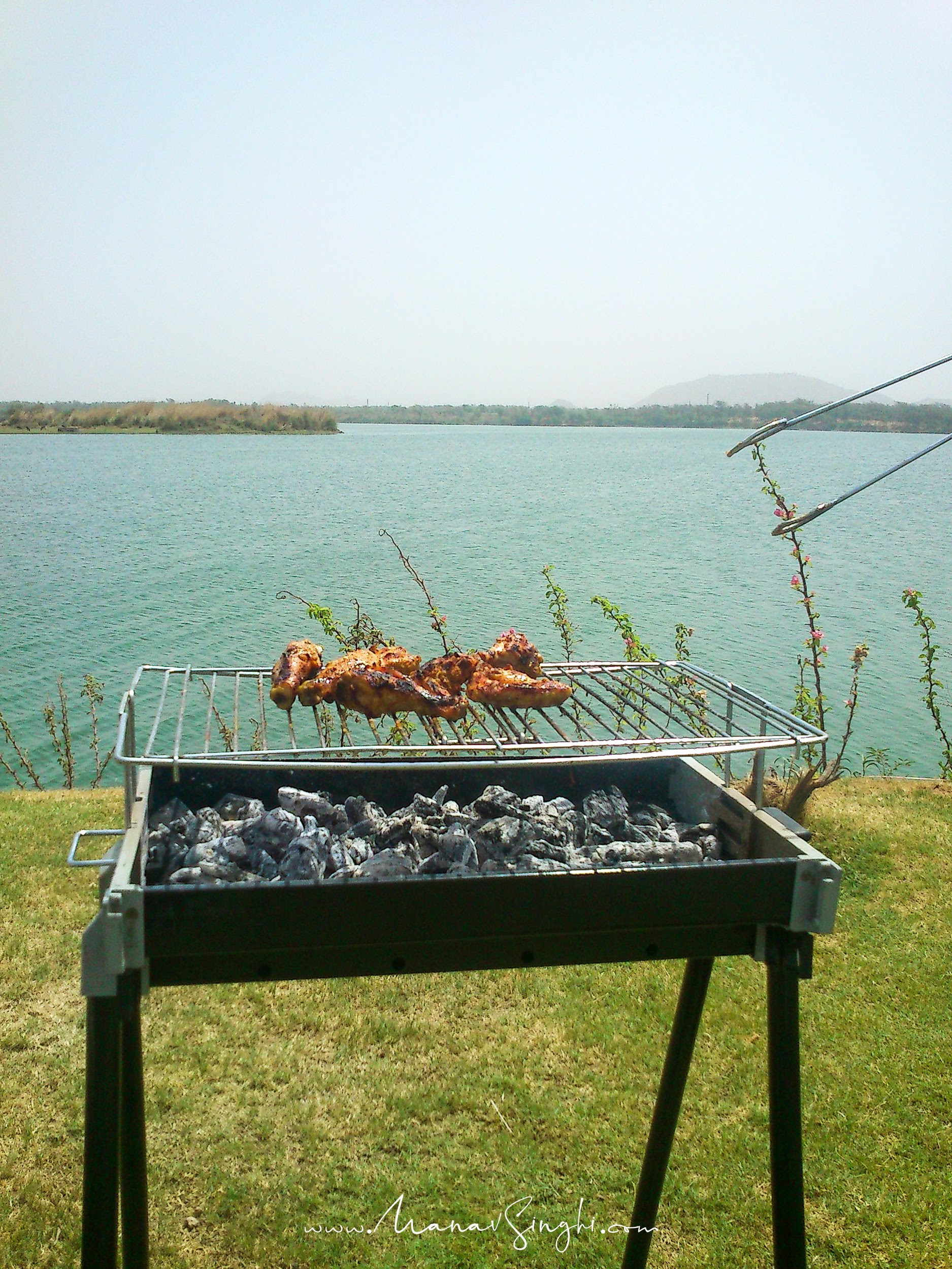Mobile Shot Taken at Kanota Dam, Jaipur on 20-June-2012 & our Barbecue Party at Private Farm House adjacent to lake. . :)