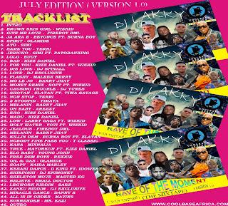 Dj Lakky latest mixtape, dj lakky rave of the moment, coolbaseafrica official dj lakky
