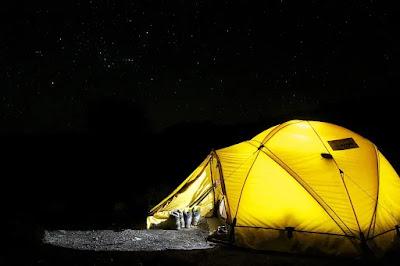 view tenda malam hari keren