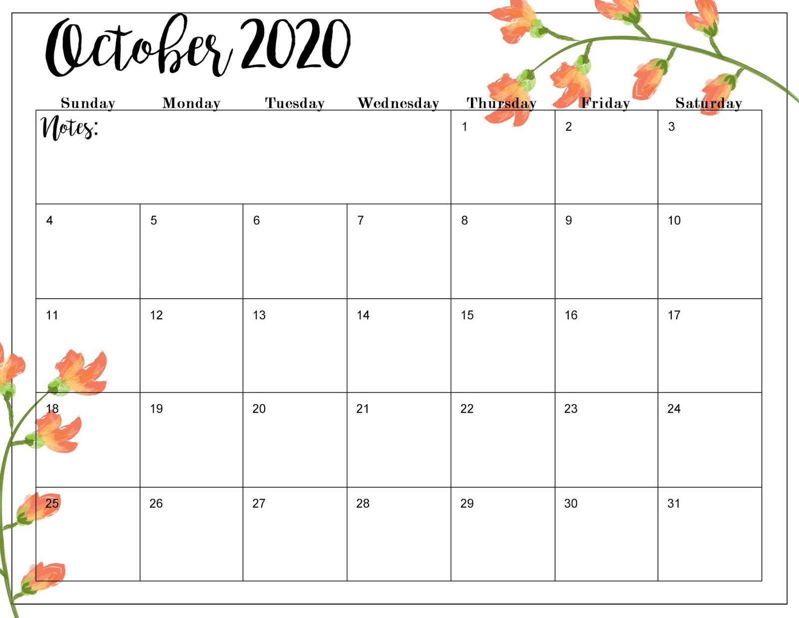 This is an image of Invaluable Free Printable Calendars for 2020