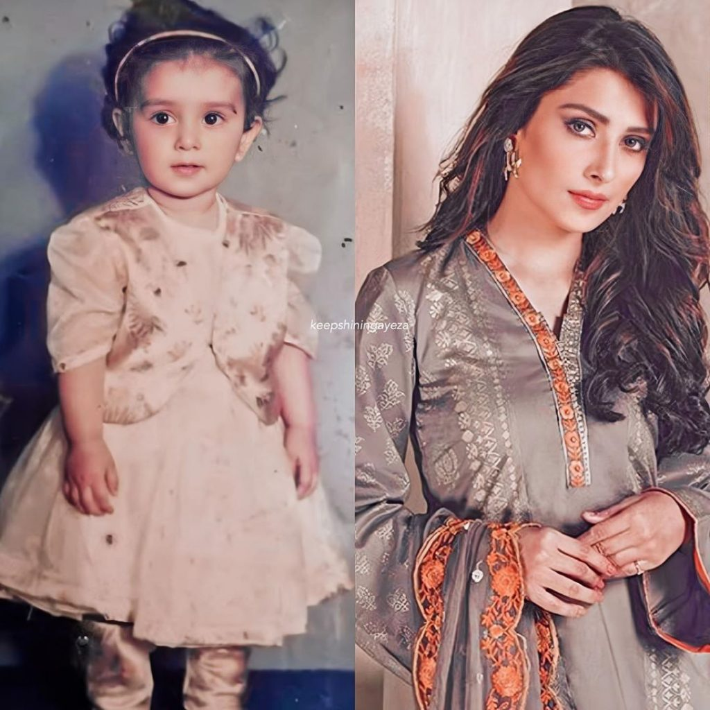 Ayeza Khan Amazing Transformation from Adorable Kid to Successful Superstar