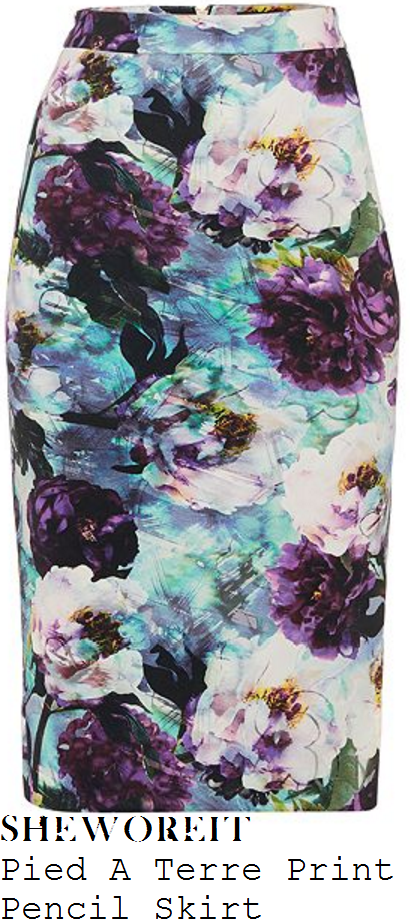 holly-willoughby-pied-a-terre-purple-blue-and-white-floral-watercolour-print-pencil-skirt