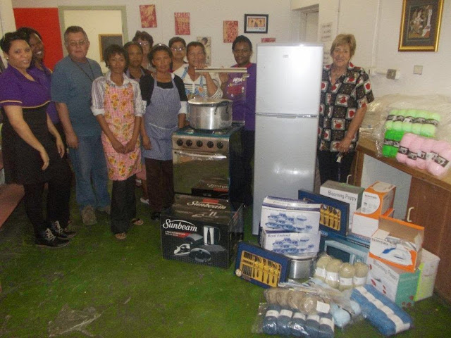 The Hollywoodbets Cradock team with donations to the Vukusebenza Shelter (Eastern Cape)