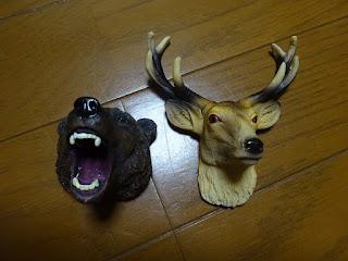シカと熊のマグネット