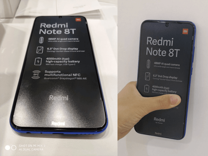 Alleged Xiaomi Redmi Note 8T spotted in the wild, may launch sooner!