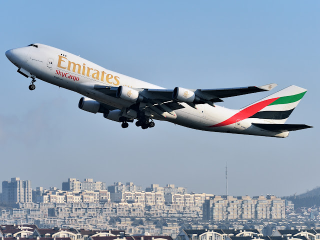 Emirates Cargo Boeing 747-400 Freighter in Climbing Phase
