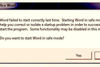 """Mengatasi Microsoft Word 2007 """"Word Failed to start correctly last time. Starting Word In Safe Mode..."""""""