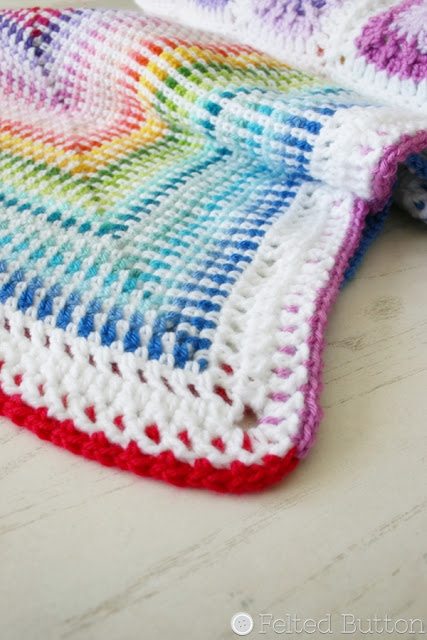 Around the Corner Blanket -- crochet pattern by Susan Carlson of Felted Button