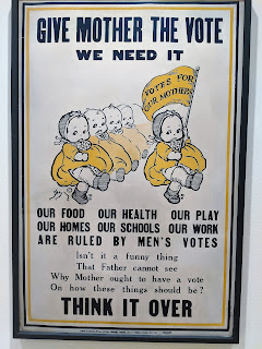 Womens right to vote poster.