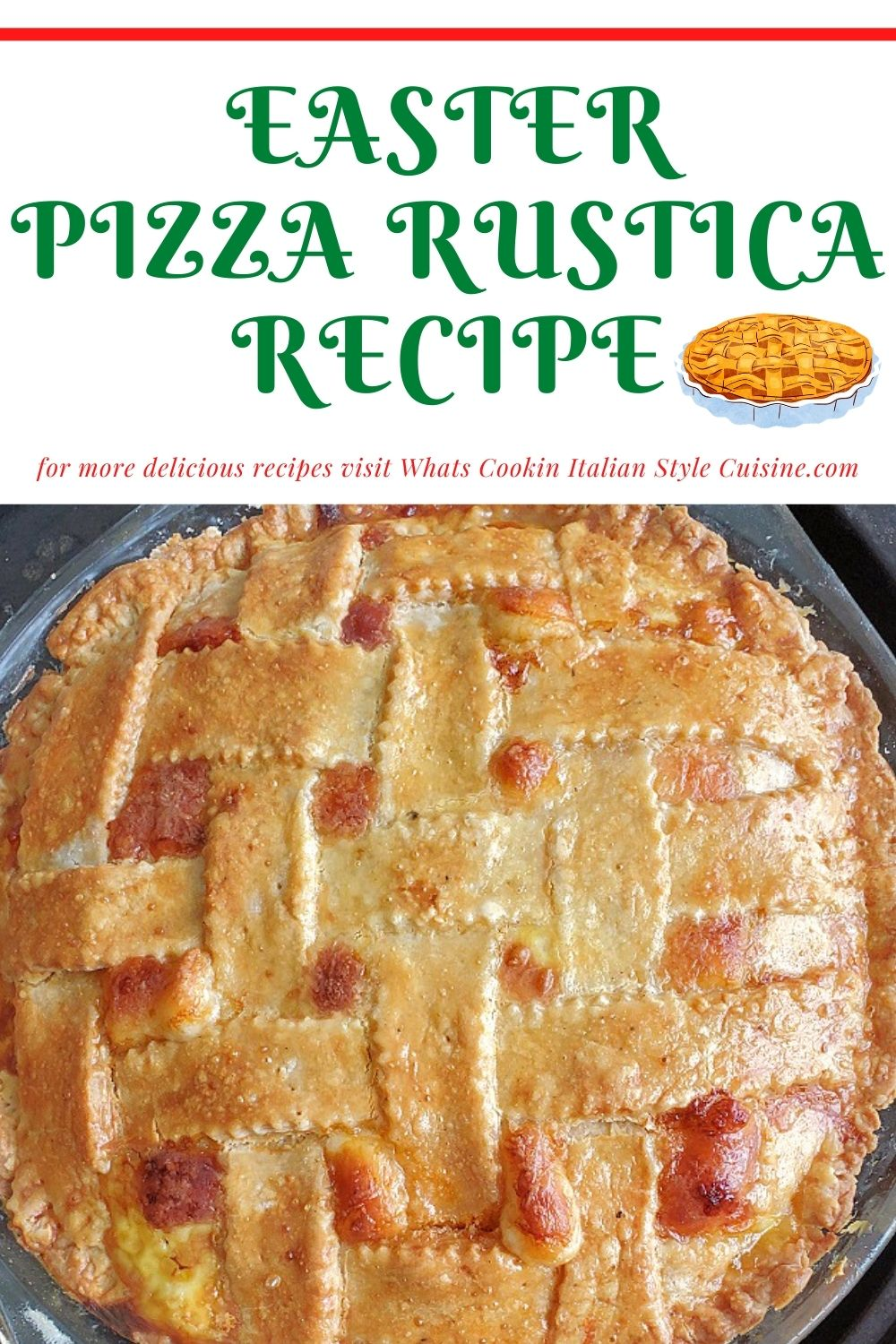 this is a pin for later on how to make an Easter Italian Meat pie stuffed with many deli meats like pepperoni, capicola and salami loaded with ricotta and lots of other cheese