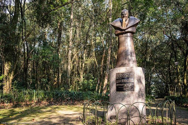 Estátua de João Paulo II no Bosque do Papa