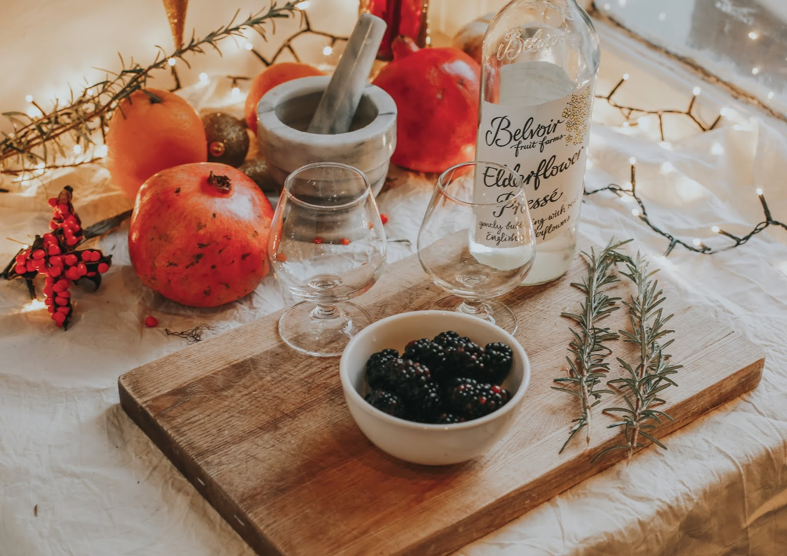 Rêveuse Recipe: Blackberry, Rosemary and Elderflower Spritz