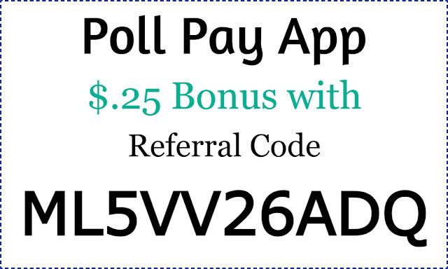 Poll Pay App Referral Code, Poll Pay Sign Up Bonus, Poll Pay App Invite Code 2021