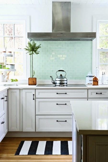 inspiracje w moim mieszkaniu Miętowa kuchnia {Mint kitchen} -> Kuchnia W Kolorze Mietowym