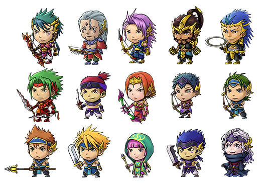 Draw game asset, 2d character sprite sheet - Game Design - Character Design