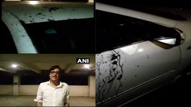 Arnab Goswami and his wife attacked early this morning in Mumbai by 2 unknown persons