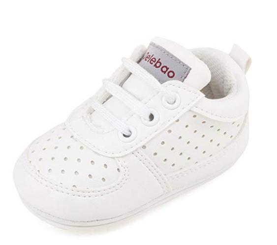 9c22f7f2 DELEBAO Zapatillas de Niño Zapatos para Bebé Primeros Pasos Calzado de Bebes  Zapato con Cordones y Suela de Goma