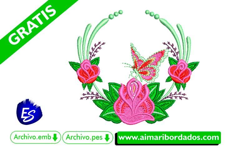 Hermoso Ramo de Flores para bordar, descargar gratis
