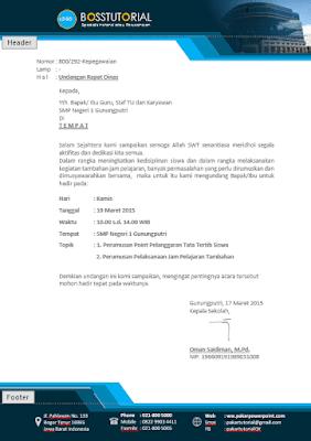 Contoh Kop Surat dengan Microsoft Word