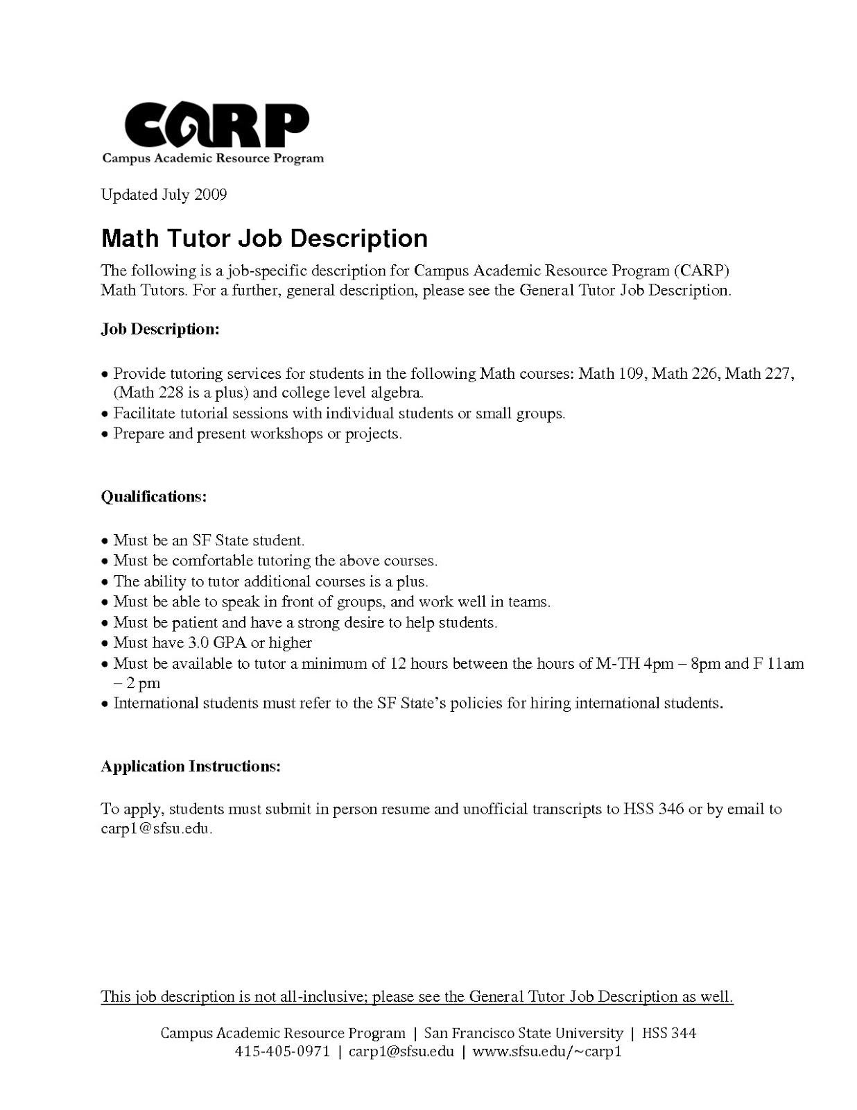 tutor resume description, english tutor job description resume, peer tutor resume description, private tutor resume description, math tutor resume description, writing tutor resume description, accounting tutor resume description, language tutor resume description, avid tutor job description resume,