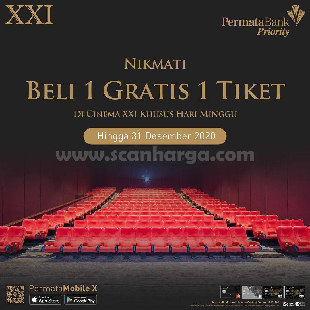 Cinema XXI Promo Permata Priority Beli 1 gratis 1 tiket