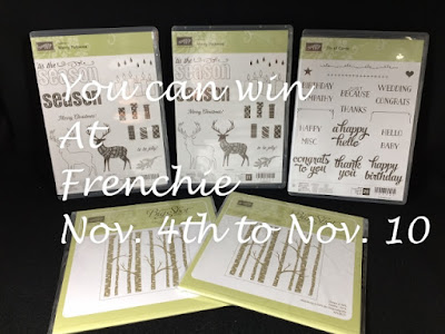 Win stamping supplies, blog candy, frenchiestamps, stampin'up