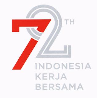 gambar visualisasi Logo 72 Tahun Kemerdekaan Indonesia dan maknanya