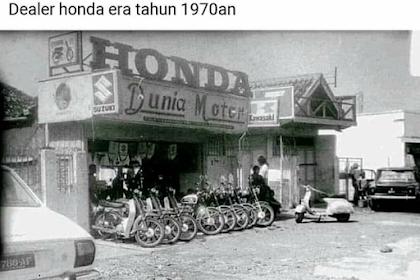 Intip Yuk Dealer Motor Honda Tahun 1970an