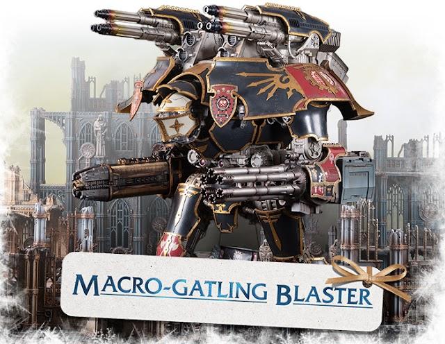 Macro Gatling Blaster- Warlord Titan Arm Mounted Weapon
