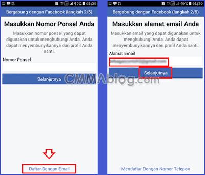 membuat akun Facebook baru lewat hp