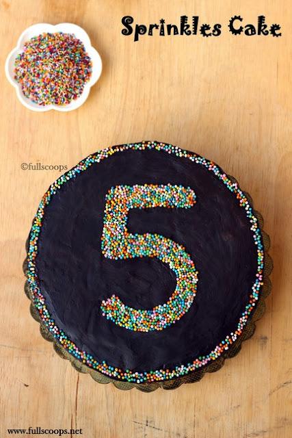 Sprinkles Number Cake