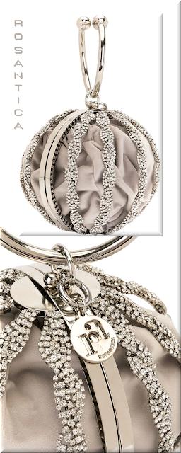 Rosantica silver-toned embellished round mini bag #bags #eveningbags #rosantica #brilliantluxury