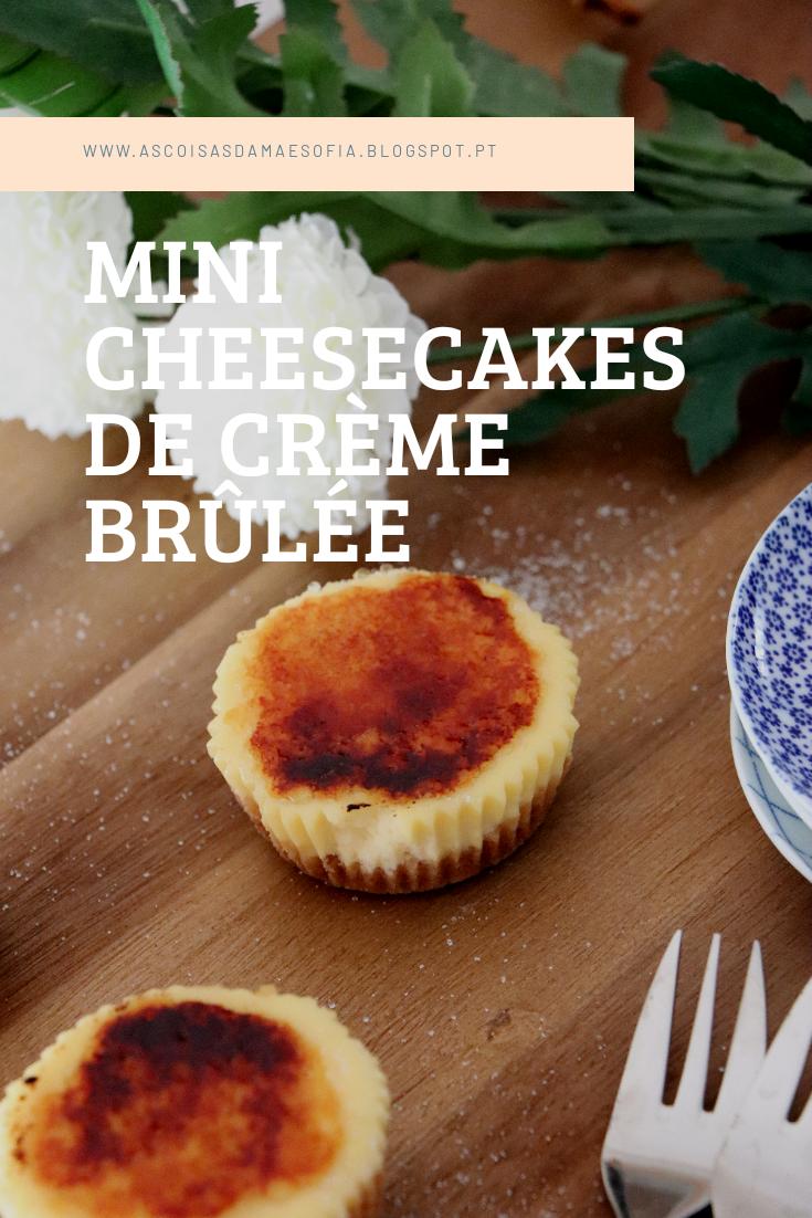 Mini Cheesecakes de Crème Brûlée
