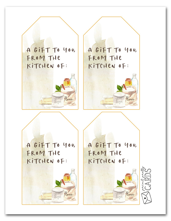 Free Printable Gift Tags for Baked Goods
