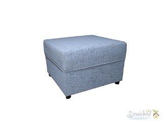 Pouffe, Ottoman, White, Furniture, Soft