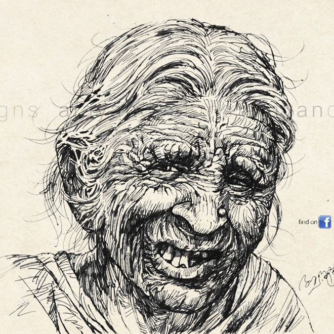 amazing pencil drawings by Kerala Artist Ajayan Chalissery
