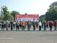Dandim 0802/Ponorogo Hadiri Apel Kesiapan Pengamanan Larangan Mudik Hari Raya Idul Fitri 1442 H