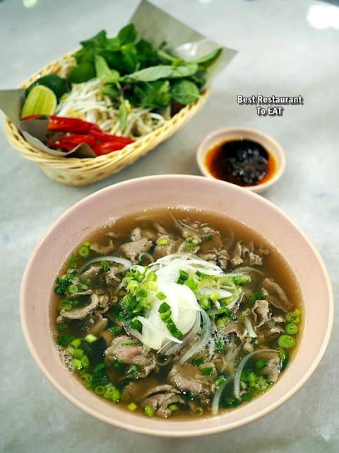 Nguyens Retail Park Vietnamese Restaurant Menu - Australian Beef Pho  Slice