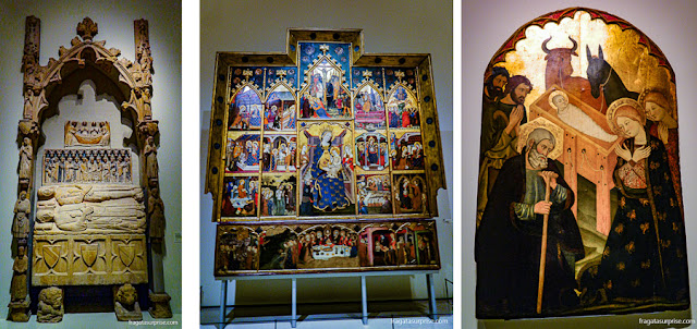 Peças das coleções Românica e Gótica do MNAC