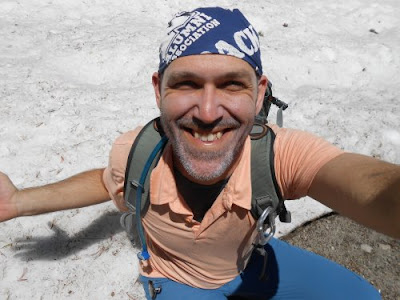 Jim Tolles, hiking, snow, trail
