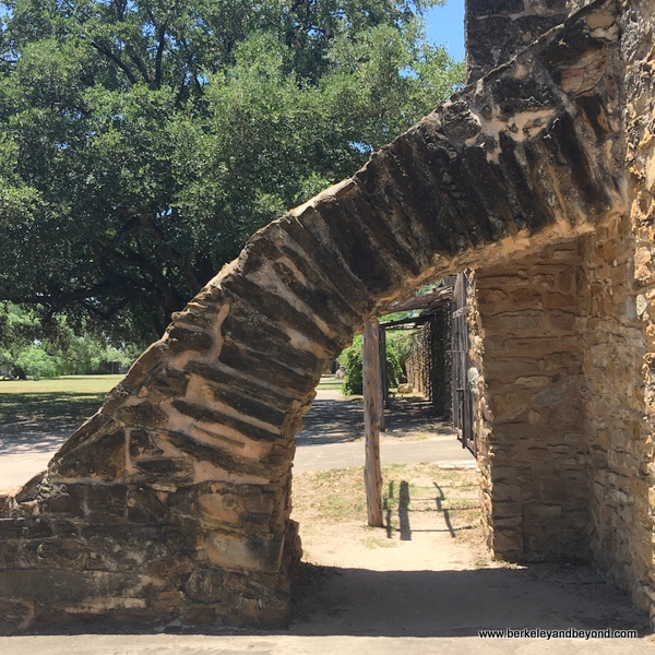 flying buttress at Mission San Jose in San Antonio Missions National Historical Park in San Antonio, Texas