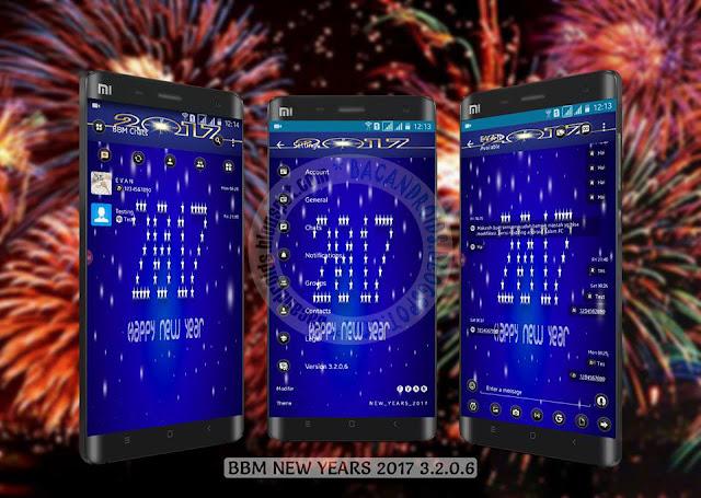 BBM mod New years Theme 2017 v3.2.0.6 Apk terbaru