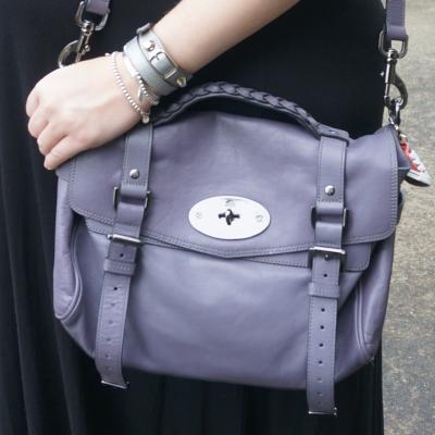 AwayFromTheBlue | Balenciaga wrap bracelet silver tiffany stack Mulberry alexa bag