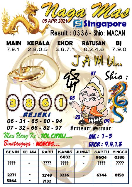 Syair Naga Mas SGP Senin 05 April 2021